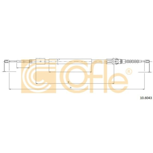 Cablu frana mana Citroen C4 1 (Lc); Peugeot 307 (3a/C) Cofle 106043, parte montare : stanga, dreapta, spate