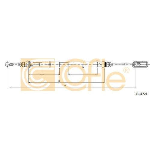 Cablu frana mana Citroen C8 (Ea, Eb); Fiat Ulysse (179ax); Lancia Phedra (179); Peugeot 807 (E) Cofle 104721, parte montare : dreapta, spate