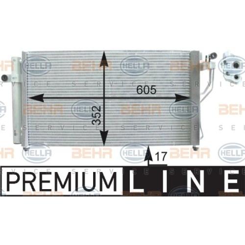 Condensator climatizare, Radiator clima Hyundai Accent 3 (Mc), Hella 8FC351303171