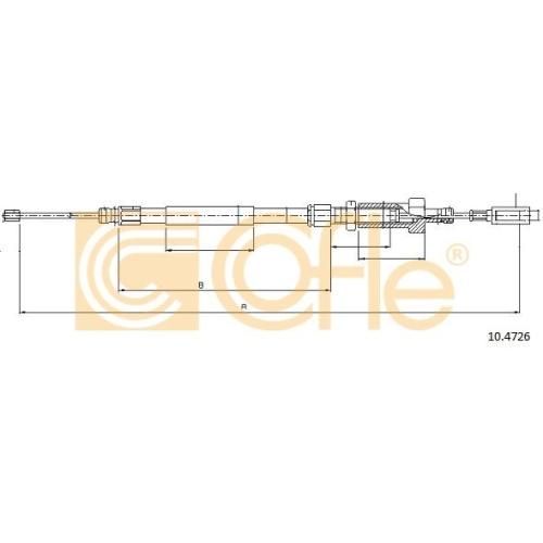 Cablu frana mana Citroen Jumper (244, Z); Fiat Ducato Bus (244, Z) Cofle 104726, parte montare : fata
