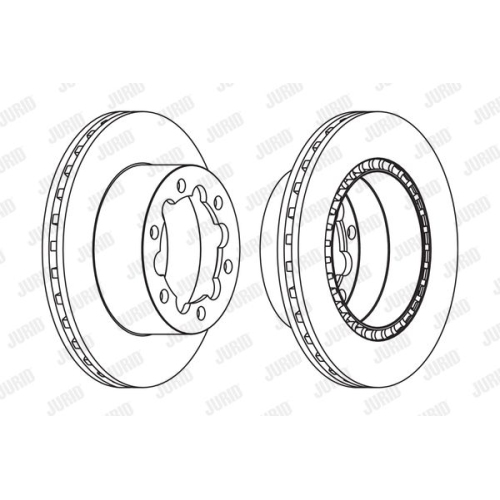Disc frana Jurid 569138J, parte montare : punte spate