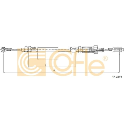 Cablu frana mana Citroen Jumper Bus (230p 244); Fiat Ducato (230 244); Peugeot Boxer Bus (230p 244) Cofle 104723, parte montare : fata