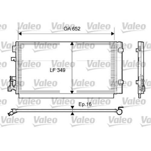 Condensator climatizare, Radiator clima Renault Grand Scenic 3 (Jz0/1), Megane 3 (Bz0), Scenic 3 (Jz0/1), Valeo 814094