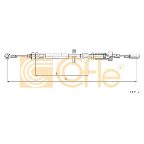 Cablu frana mana Citroen Jumper Bus (230p 244); Fiat Ducato (230 244); Peugeot Boxer Bus (230p 244) Cofle 11717, parte montare : fata