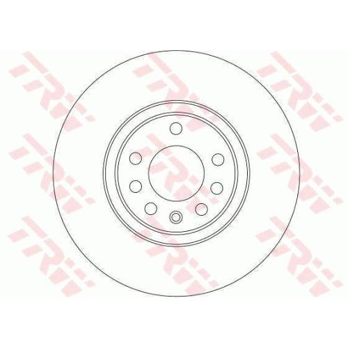 Disc frana Trw DF4246, parte montare : Punte fata