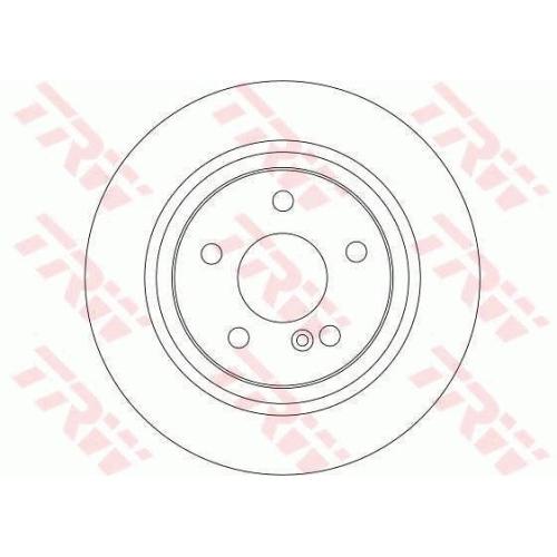 Disc frana Trw DF4270, parte montare : Punte spate