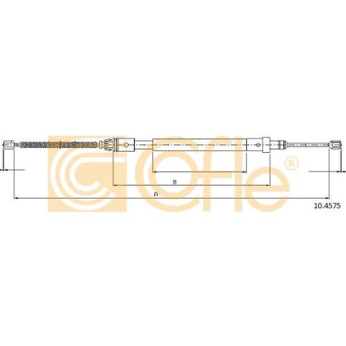 Cablu frana mana Citroen Xsara (N1/ N2) Cofle 104575, parte montare : stanga, spate