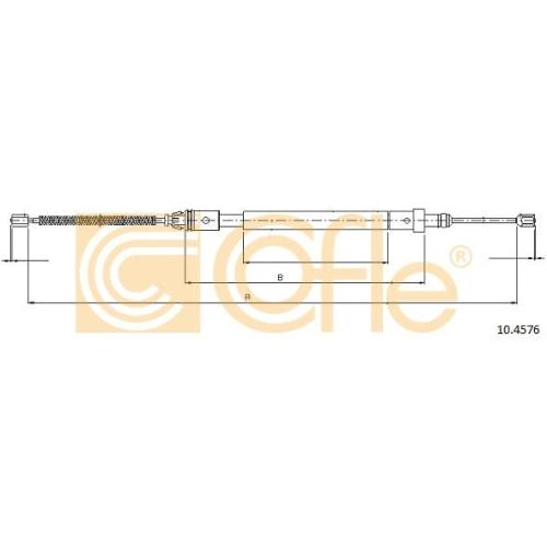 Cablu frana mana Citroen Xsara (N1/ N2) Cofle 104576, parte montare : dreapta, spate
