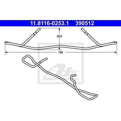 Arc etrier frana Mercedes Clasa C (W202), Clasa CLK (C208), Clasa E (W210), Clasa E (W211), Clasa E (W210), Clasa E T-Model (S211), Clasa S (W220), Slk (R170), Ate 11811602531, parte montare : Punte fata