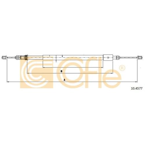 Cablu frana mana Citroen Xsara (N1/ N2) Cofle 104577, parte montare : stanga, spate