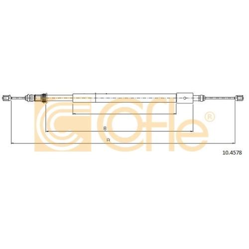 Cablu frana mana Citroen Xsara (N1/ N2) Cofle 104578, parte montare : dreapta, spate