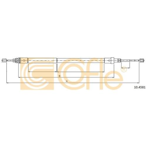 Cablu frana mana Citroen Xsara (N1/ N2) Cofle 104581, parte montare : stanga, spate