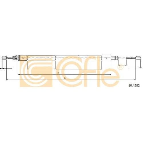 Cablu frana mana Citroen Xsara (N1/ N2) Cofle 104582, parte montare : dreapta, spate