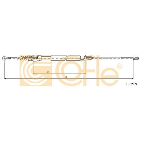 Cablu frana mana Cofle 107509