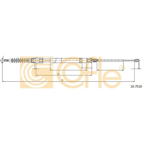 Cablu frana mana Cofle 107518