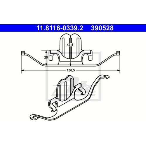 Arc etrier frana Bmw Seria 1 (E81 E87 E88 E82), Seria 3 (E90/E91), Seria 5 (E60/ E61), X1 (E84), Z4 (E89), Ate 11811603392