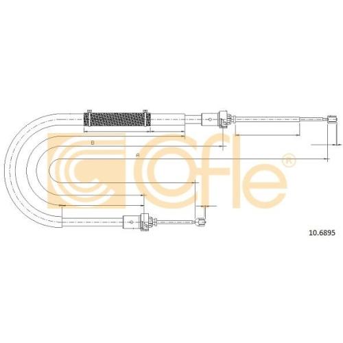 Cablu frana mana Dacia Duster Cofle 106895, parte montare : stanga, dreapta, spate