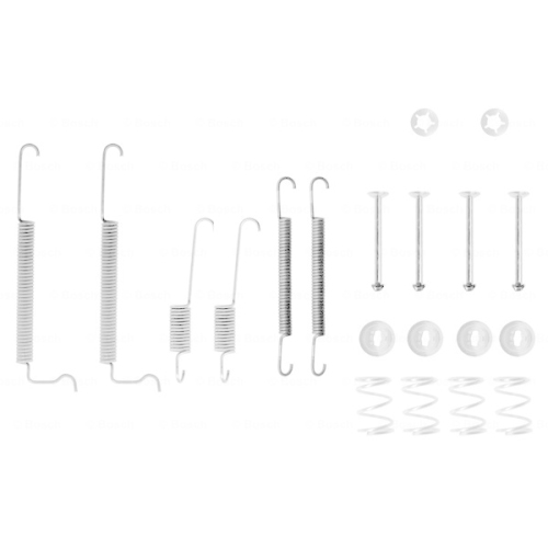 Set accesorii reparatie saboti frana Bosch 1987475122, parte montare : Punte Spate