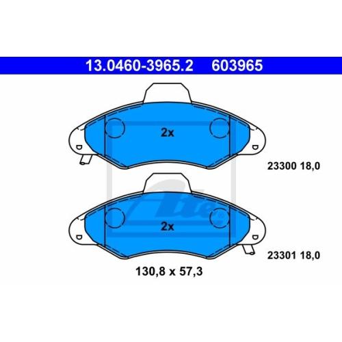 Set placute frana Ate 13046039652, parte montare : punte fata