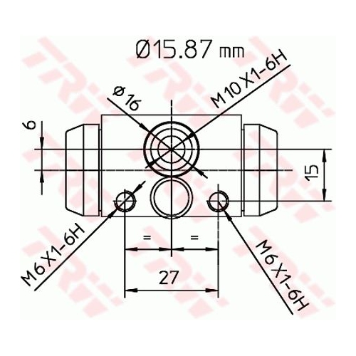 Cilindru receptor frana Opel Agila (A) (H00) Trw BWB170, parte montare : punte spate, dreapta, stanga