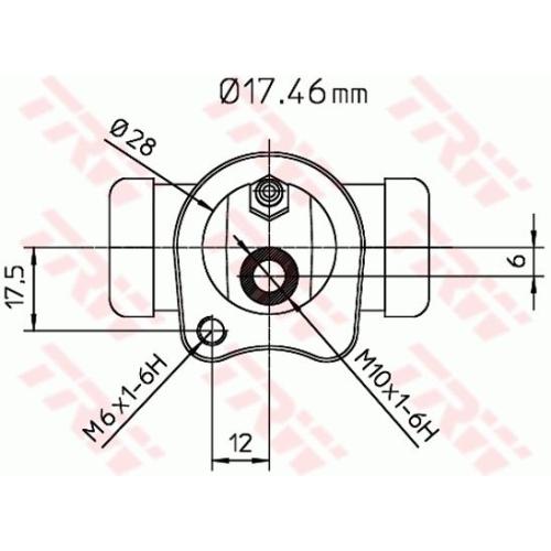 Cilindru receptor frana Trw BWC115, parte montare : Punte spate, Stanga/ Dreapta