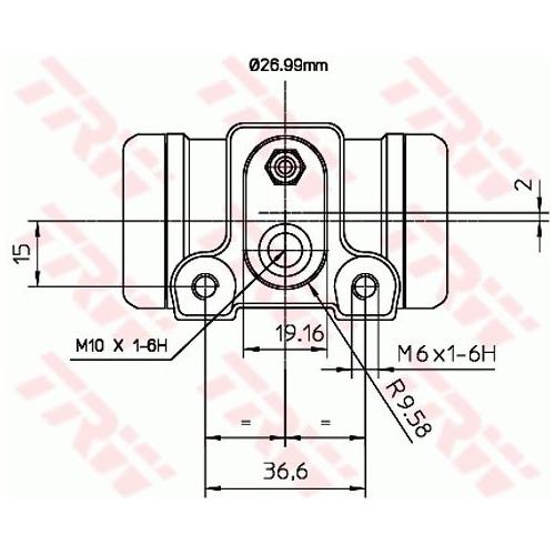 Cilindru receptor frana Trw BWN240, parte montare : Punte spate, Stanga/ Dreapta