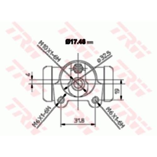 Cilindru receptor frana Trw BWA129, parte montare : Punte spate, Stanga/ Dreapta