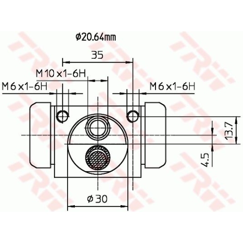 Cilindru receptor frana Trw BWF318, parte montare : Punte spate, Stanga/ Dreapta