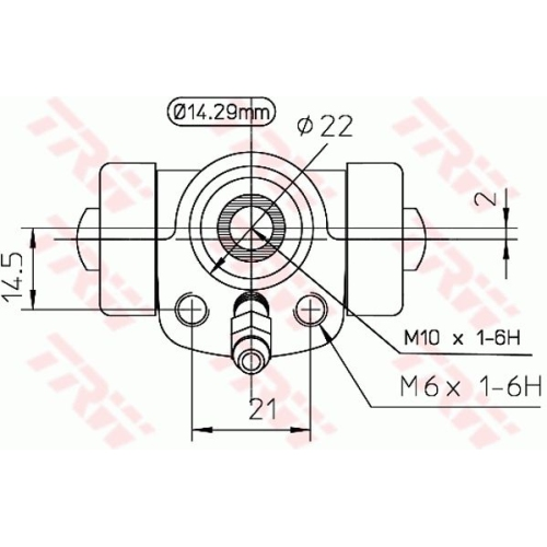Cilindru receptor frana Trw BWA108, parte montare : Punte spate, Stanga/ Dreapta