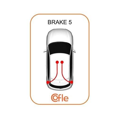 Cablu frana mana Audi A3 (8l1); Seat Leon (1m1), Toledo 2 (1m2); Skoda Octavia 1 (1u2); Vw Bora (1j2), Golf 4 (1j1), New Beetle (9c) Cofle 107504, parte montare : stanga, dreapta, spate