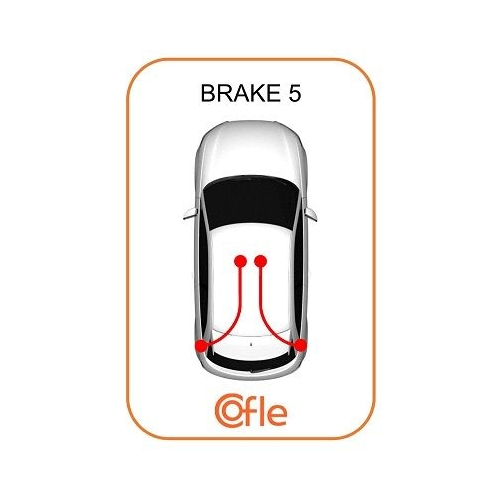 Cablu frana mana Audi A3 (8l1); Seat Leon (1m1), Toledo 2 (1m2); Skoda Octavia 1 (1u2); Vw Bora (1j2), Golf 4 (1j1), New Beetle (9c) Cofle 107508, parte montare : stanga, dreapta, spate