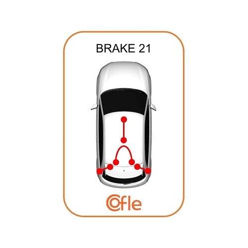 Cablu frana mana Chevrolet Corsa; Opel Astra G (F48, F08), Zafira A (F75) Cofle 115857, parte montare : spate