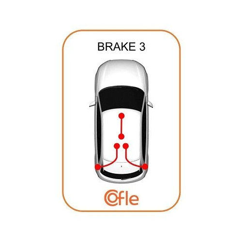 Cablu frana mana Citroen Jumper (244, Z); Fiat Ducato Bus (244, Z) Cofle 104728, parte montare : stanga, dreapta, spate