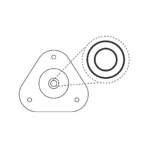 Flansa amortizor Toyota Auris (e18), Corolla Limuzina (e18), Rav 4 3 Kyb SM5639, parte montare : punte fata