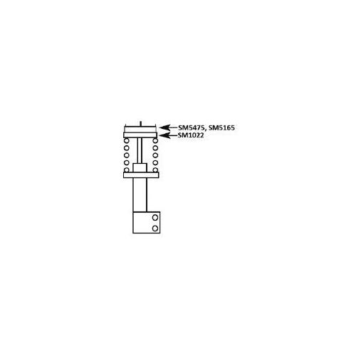 Flansa amortizor Volvo 850 (Ls), C70 1, S70 (Ls), S80 1 (Ts, Xy), V70 1 (Lv), V70 2 (Sw) Kyb SM5165, parte montare : punte fata
