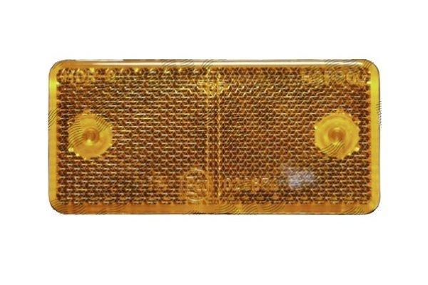 Catadioptru reflectorizant orange universal RapidAuto partea dreapta/stanga 89x40x6mm banda adeziva , dreptunghiulara , 1 buc.