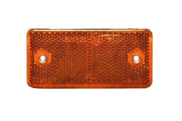 Catadioptru reflectorizant orange universal RapidAuto partea dreapta/stanga , 89x40x6mm , dreptunghiular , distanta intre gauri 70mm, 1 buc.