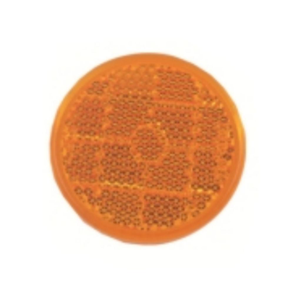 Catadioptru reflectorizant rotund Portocaliu universal RapidAuto, fixare cu surub, 84 mm , 1 buc.