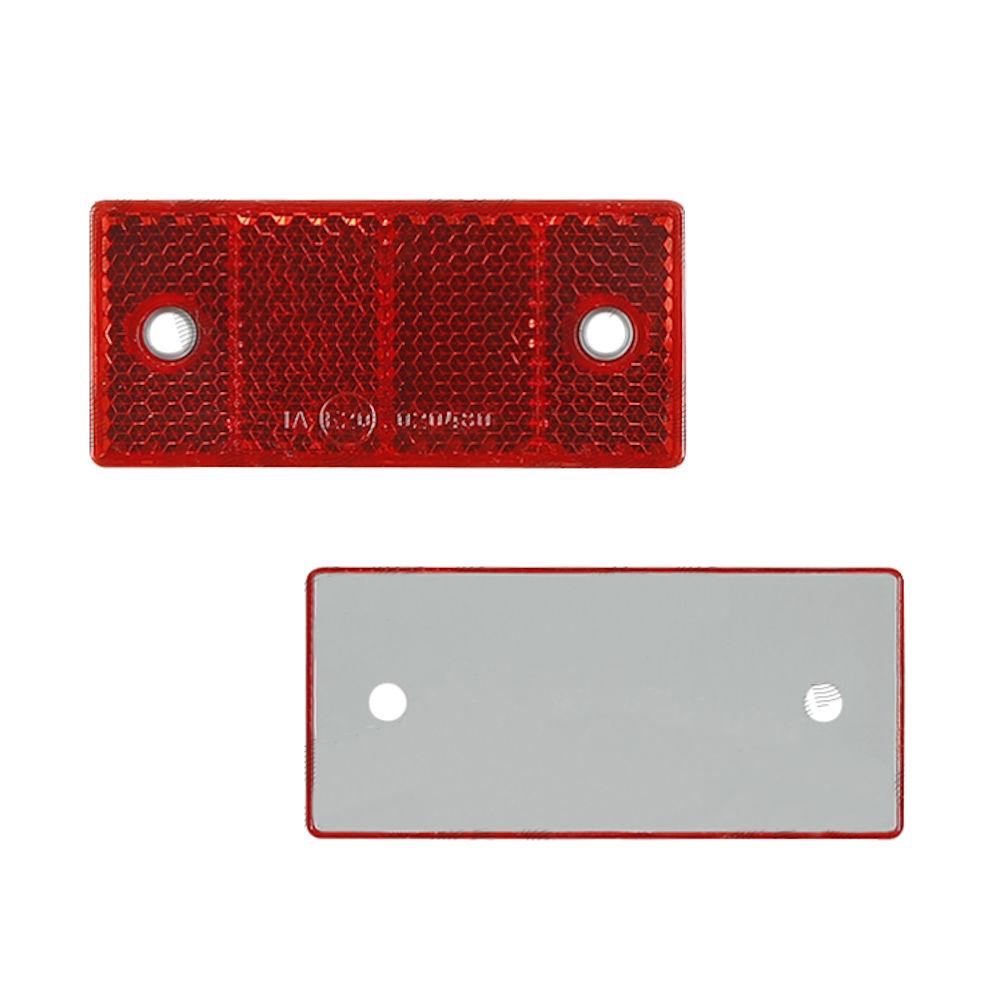 Catadioptru reflectorizant rosu RapidAuto dreptunghiular , 69x31 mm , fixare cu suruburi, 1 buc.