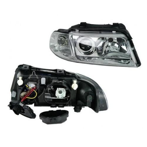 Far Audi A4 (B5), 01.99-09.2001, electric, tip bec H1+H7, fara motoras, omologare ECE, Dreapta