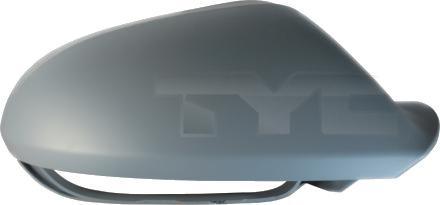 Carcasa oglinda exterioara Audi A6 (4g/C7), 01.2011-2014, partea Dreapta, culoare sticla, cu carcasa grunduita