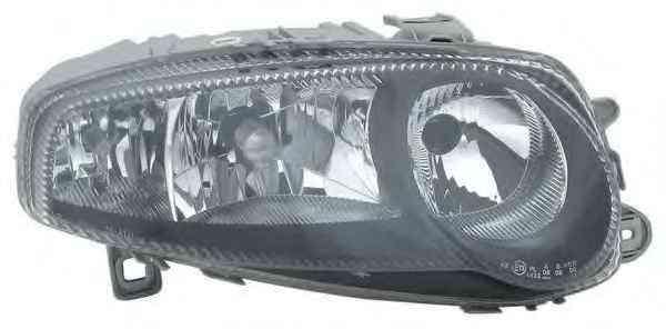 Far Alfa Romeo 147 (937) 10.2000-10.2004 partea Stanga tip bec H1+H7+H7 reflector negru