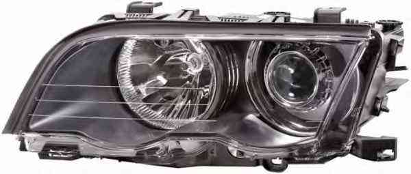 Far Bmw Seria 3 (E46) Sedan/Combi 06.1998-09.2001 fata dreapta tip bec D2S+H7, xenon reflector negru