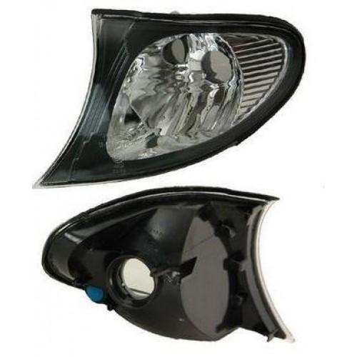 Lampa semnalizare fata Bmw Seria 3 (E46) Sedan/Combi 10.2001-06.2005 partea stanga, alba cu reflector negru