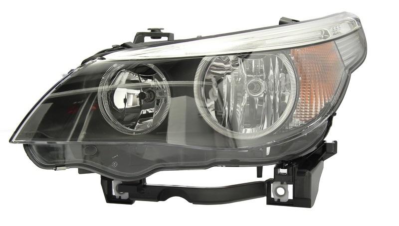 Far Bmw Seria 5 (E60/E61) 06.2003-03.2007 DJ AUTO fata stanga H7+H7, semnal alb, cu motoras