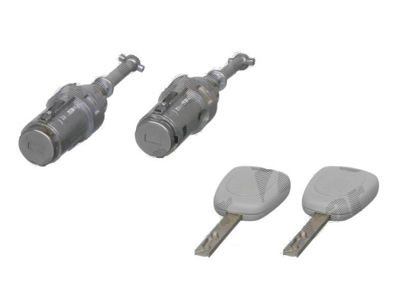 Set yale inchidere Citroen C3 (Fc), 01.2002-07.2005, 2 butuci cu cheie, fata, stanga/dreapta