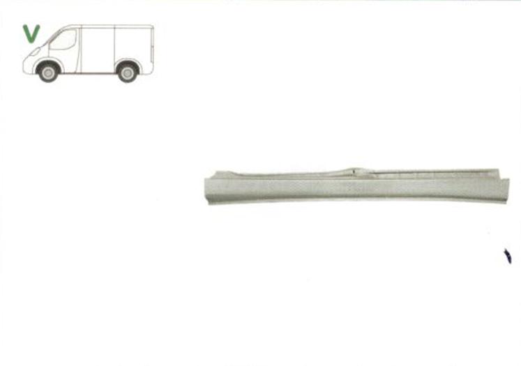 Prag Citroen Jumpy (U6U) 10.1995-12.2003 Fiat Scudo (220) 01.1995-12.2003 Peugeot Expert (222/223/224) 01.1994-12.2003 Stanga 7009 94, lungime 2100mm, prag din metal