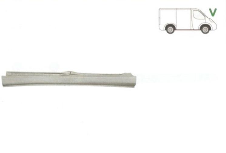 Prag Citroen Jumpy (U6U) 10.1995-12.2003 Fiat Scudo (220) 01.1995-12.2003 Peugeot Expert (222/223/224) 01.1994-12.2003 Dreapta 7010 94, prag din metal