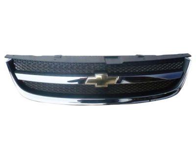 Grila radiator Chevrolet Lacetti Sedan/Combi 2005-05.2009, crom/negru