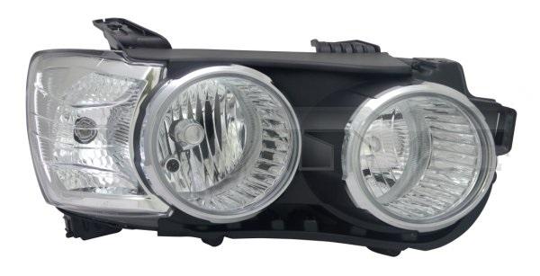 Far Chevrolet Aveo (T300), 05.2011-2014, Electric, tip bec H1+H7, omologare ECE, cu motoras, argintiu, Dreapta, marca Depo